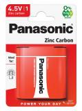 Panasonic 3R12R-1BP RED ZINC féltartós elem, 4.5 V-os lapos, 1db/bliszter