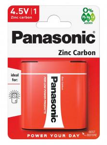 Panasonic 3R12R-1BP RED ZINC féltartós elem, 4.5 V-os lapos, 1db/bliszter termék fő termékképe