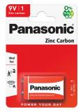 Panasonic 6F22R-1BP RED ZINC féltartós elem, 9 V-os hasáb, 1db/bliszter