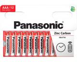 Panasonic R03RZ-12HH RED ZINC féltartós elem, AAA (micro), 12db/bliszter