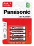 Panasonic R03R-4BP RED ZINC féltartós elem, AAA (micro), 4db/bliszter