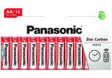 Panasonic R6RZ-12HH RED ZINC féltartós elem, AA (ceruza), 12db/bliszter