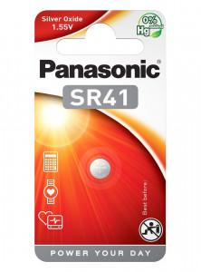 Panasonic SR41 1.55V ezüst-oxid gombelem, 1db/bliszter termék fő termékképe
