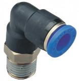 Rectus PL 04-01C mini könyök csatlakozó, 4mm x 1/8