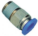 Rectus mini egyenes csatlakozó külső menettel, 4 mm x M5