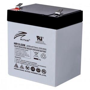 Ritar HR12-22W-F2 nagy áramú zárt ólomakkumulátor 12 V/5.5 Ah termék fő termékképe