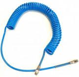 Rectus SPF6510SB075R kalibrált Shore A 98 PU spiráltömlő forgó csavarzattal, kék, 10x6.5x1.75 mm, 7.5mhosszú