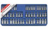 """Genius Tools TX-2353 1/4"""", 3/8""""-os rátűzőkulcs készlet, 53 részes"""