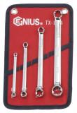 Genius Tools TX-E04 E-típusú (belső torx) csillagkulcs készlet, 4 részes