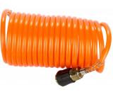Betta WFPU10 PU spiráltömlő gyorscsatlakozóval, narancssárga, 8x6x1 mm, 10mhosszú