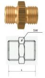 Rectus (DN 13/13L) G 1/4 LKS x G 1/4 LKS csatlakozású kettős karmantyú