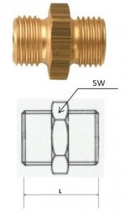 Rectus (DN 13/13L) G 1/4 LKS x G 1/4 LKS csatlakozású kettős karmantyú termék fő termékképe