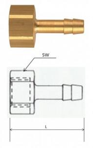 (TI3813M) G 3/8, 13 mm csatlakozású belső menetes tömlővég termék fő termékképe