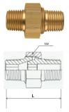 Rectus (LD 10/10K) R 1/8 x R 1/8 csatlakozású oldható kettős karmantyú