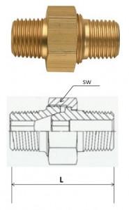 Rectus (LD 21/21K) R 1/2 x R 1/2 csatlakozású oldható kettős karmantyú termék fő termékképe