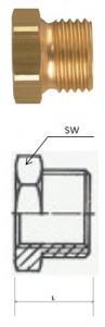 Rectus (RK 10/21) G 1/8i x G 1/2a csatlakozású szűkítő karmantyú, rövid termék fő termékképe