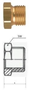 Rectus (RK 17/26) G 3/8i x G 3/4a csatlakozású szűkítő karmantyú, rövid termék fő termékképe