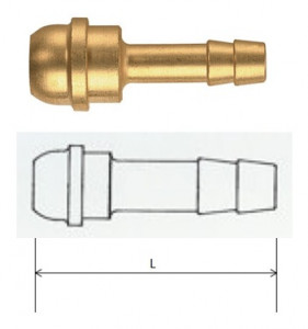 Rectus (STP 17/04) G 3/8 csatlakozású tömlővég, rövid termék fő termékképe