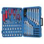 Genius Tools AC-23117 szerszám készlet, colos és metrikus, 117 részes