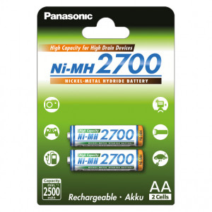 Panasonic BK-3HGAE/2BE Ni-MH akkumulátor, AA (ceruza), 2700 mAh, 2db/bliszter termék fő termékképe
