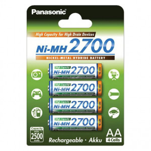 Panasonic BK-3HGAE/4BE Ni-MH akkumulátor, AA (ceruza), 2700 mAh, 4db/bliszter termék fő termékképe