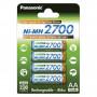 Panasonic BK-3HGAE/4BE Ni-MH akkumulátor, AA (ceruza), 2700 mAh, 4db/bliszter