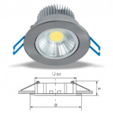 Elmark LED beépíthető spot lámpatest, króm, Ø85 mm, 560 lm, 2700-3000 K, 7 W