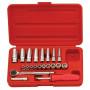 """Genius Tools GS-221M 1/4""""-os 6 lapú dugókulcs készlet, 21 részes"""