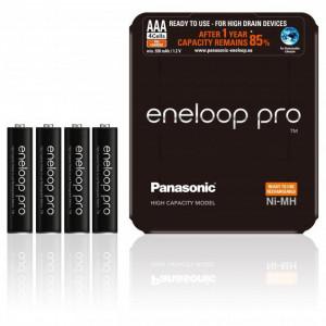 Panasonic 4HC-SP-4 eneloop pro Ni-MH akkumulátor, Sliding Pack, AAA (micro), 930 mAh, 4db/csomag termék fő termékképe