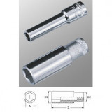 "Genius Tools 225204 1/4""-os 6 lapú dugókulcs fej, hosszított kivitel, 4 mm"