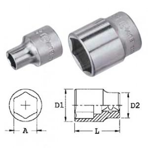 """Genius Tools 323206 3/8""""-os 6 lapú dugókulcs fej, 6 mm termék fő termékképe"""
