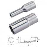 "Genius Tools 326306 3/8""-os 6 lapú dugókulcs fej, hosszított kivitel, 6 mm"