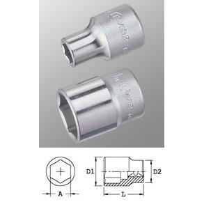 """Genius Tools 423815 1/2""""-os 6 lapú dugókulcs fej, 15 mm termék fő termékképe"""