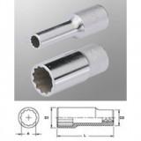 "Genius Tools 437808 1/2""-os 12 lapú dugókulcs fej, hosszított kivitel, 8 mm"