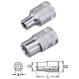 """Genius Tools 454516 1/2""""-os E-típusú (belső torx) dugókulcs fej, E-16 termék fő termékképe"""