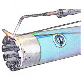 Ø 120 mm fúrókorona felújítás: átlagosan, kismértékben koptató tulajdonságú anyagokhoz