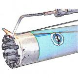 Ø 140 mm fúrókorona felújítás: gyenge koptató tulajdonságú anyagokhoz