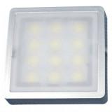 Elmark LED bútorvilágító lámpatest, ezüst, 57x57 mm, 210 lm, meleg fehér fény, 2.4 W