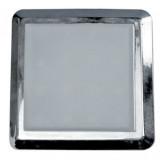 Elmark LED bútorvilágító lámpatest, króm, 52x52 mm, 90 lm, fehér fény, 1 W