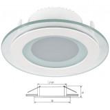 Elmark LED panel lámpatest, fehér, üvegezett, Ø100 mm, 12 db LED, 480 lm, 2700-3000K, 6 W