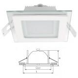 Elmark LED panel lámpatest, fehér, üvegezett, 97x97 mm, 12 db LED, 480 lm, 2700-3000K, 6 W