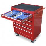 Genius Tools PT-FSZ1 szerszámos szekrény, 6 fiókos, felszerelt, 47 db-os