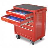 Genius Tools PT-FSZ3 szerszámos szekrény, 5 fiókos, felszerelt, 156 db-os