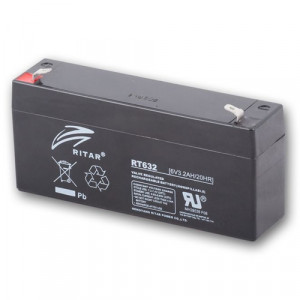 Ritar RT632-F1 ólomakkumulátor 6 V/3,2 Ah termék fő termékképe