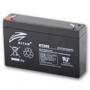 Ritar RT680-F1 ólomakkumulátor 6 V/8 Ah termék fő termékképe