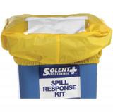 Solent Ellenőrzési borítás, PVC, sárga, 120 literes kiömléskezelő készlethez