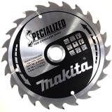 Makita Specialized körfűrésztárcsák akkumulátoros körfűrészhez ⌀165mm, fogszám: 24db, furat ⌀20mm