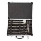 Makita fúró-véső készlet (17db fúrószár, hegyesvéső 140;250mm, laposvéső 140,250x20mm, széles véső 250x40 mm)