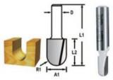 Makita kerekítő kések ⌀ 9,5mm, munkahossz: 12,7mm, befogó: 8mm, R4,8