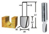 Makita kerekítő kések ⌀ 6,35mm, munkahossz: 12,7mm, befogó: 6mm, R3,2